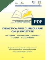 Didactica Ariei Curriculare Om Si Societate