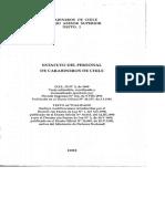 DFL N° 2 DE 1968 ESTATUTO DEL PERSONAL DE CARABINEROS DE CHILE