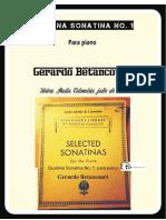 GUABINA SONATINA No. 1 Para piano.  Gerardo Betancourt.