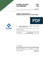 NTC 685 Alimentos para Animales. Harinas de Subproductos de Orugen Animal.pdf