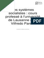 Vilfredo Pareto Les Systemes Socialistes Vol 2