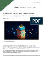 The Hunt for Earths Deep Hidden Oceans