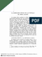 El simbolismo mítico en las novelas de Pérez Galdós, de Gustavo Correa