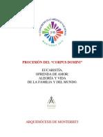 Procesión Solemne CONGRESO EUCARÍSTICO NACIONAL 2015