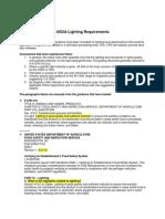 USDA Lighting Requirements