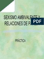 Notas Sobre Sexismo Ambivalente y Relaciones de Pareja