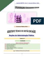 Noções de Administração Pública - FIOCRUZ