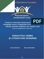 Didactica Limbii Si Literaturii Romane Molan