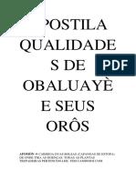 Apostila Qualidades de Obaluayè e Seus Orôs