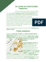 CONCEPTOS CLAVES DE CLIMATOLOGÍA