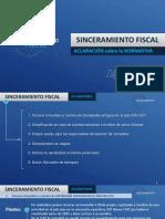 Sinceramiento fiscal - Aclaracion sobre normativa .pdf