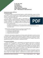 Presupuesto Participativo. Universidad Nacional de San Juan