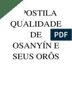 Apostila Qualidades de Osanyín e Seus Orôs