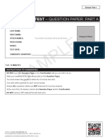 Reading Sample Test 1 Question Paper Part A