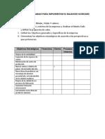 Estructura de Trabajo Para Implementar El Balanced Scorcard