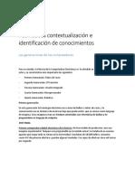 Actividades Contextualización e Identificación de Conocimientos