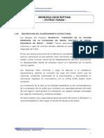 01. Memoria Descriptiva - Estructuras