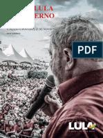 Plano de Governo para Presidente da República 2018 - PTLulaHaddadManuela