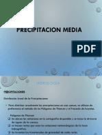 Calculo de Precipitacion Media
