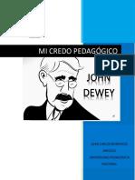 John Dewey Mi Credo Pedagógico