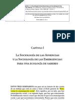 Boaventura de Sousa Santos. Sociología de Las Ausencias