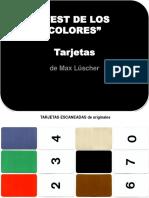 - LUSCHER TARJETAS colores