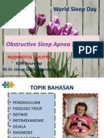 Obstructive Sleep Apnea Webinar