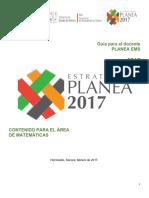 Planea2017 Guia Docente Matematicas