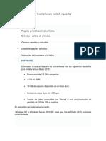 Sistema de Control de Inventario Para Venta de Repuestos