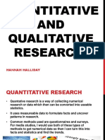 quantitative and qual. research