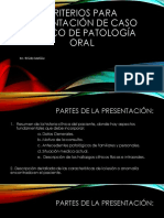 Criterios Para Presentación de Caso Clínico de Patología