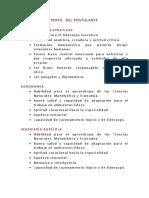 Perfil Del Postulante