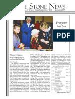 January 2007 Stone Newsletter, Stone Church of Willow Glen