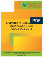 Cover Laporan Bulanan Ruangan HCU Agustus 2018