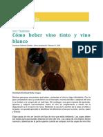 Cómo Beber Vino Tinto y Vino Blanco