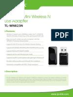 TL-WN823N V1 Datasheet