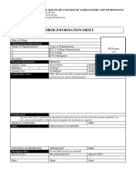 F1-Member Information Sheet