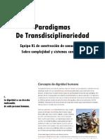 Paradigmas transdisciplinariedad