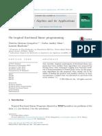 En La Programación Lineal Fraccional Tropical