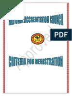 Criteria for Registration