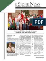 January 2009 Stone Newsletter, Stone Church of Willow Glen
