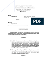 Position Paper in Labor Review1