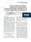 TOWARDS A MACHINE LEARNING BASED ARTIFICIALLY INTELLIGENT SYSTEM FOR ENERGY EFFICIENCY IN A CLOUD COMPUTING ENVIRONMENT