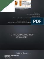c Language Report