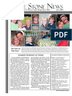 July 2009 Stone Newsletter, Stone Church of Willow Glen