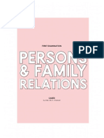 Persons and Family Relations - First Examination - [INCOMPLETE]