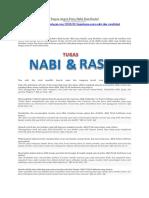 Uraiantugas.com - Tugas-tugas Para Nabi & Rasul