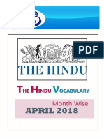 April-2018 Hindu Voacb