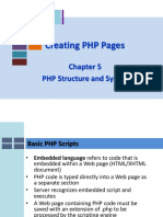 PHP Structure and Syntax
