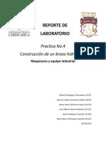 Brazo Hidraulico - Reporte Maquinaria y Equipo